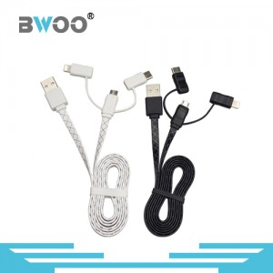 2 in 1 TPE Lightning and Micro USB Cable Charging&Sync Mobile Data Cable